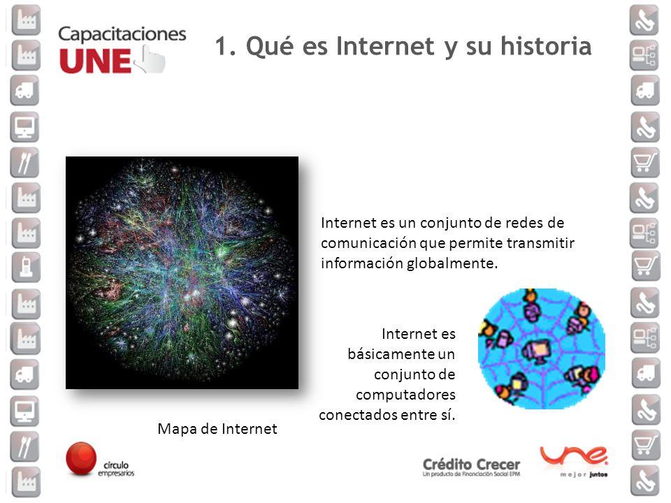 1. Qué es Internet y su historia