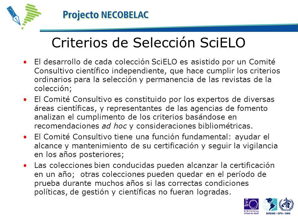 Criterios de Selección SciELO