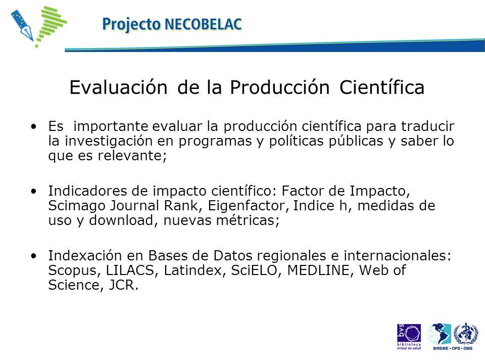 Evaluación de la Producción Científica