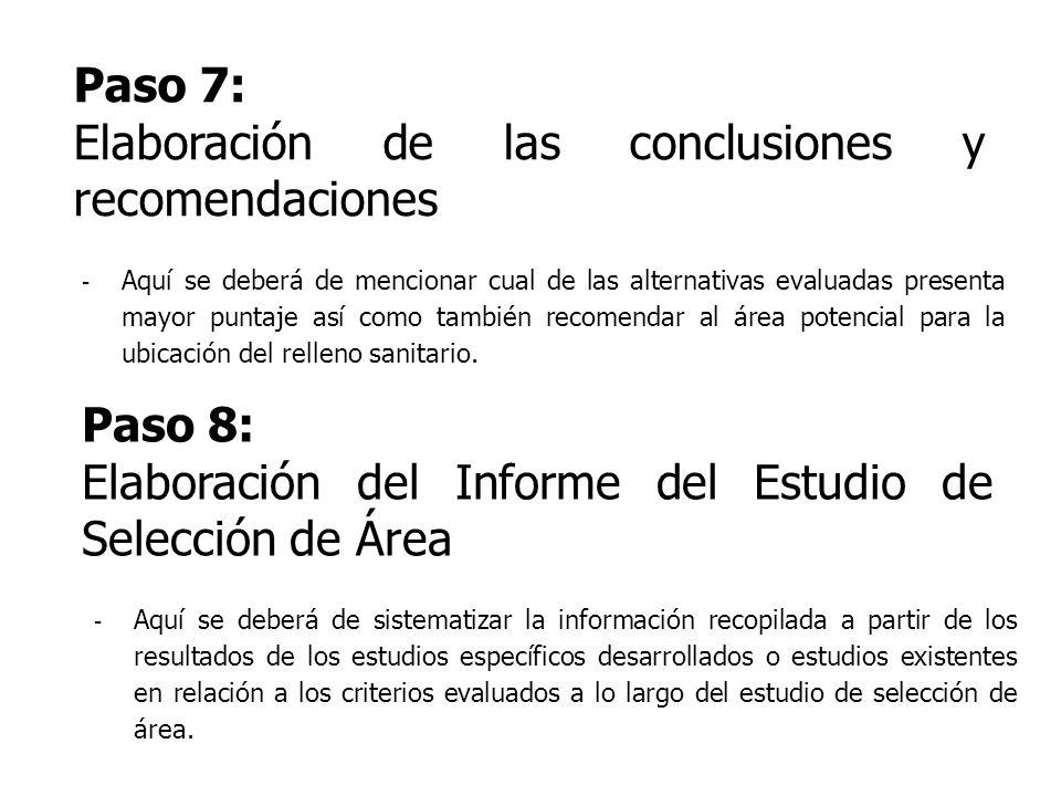 Elaboración de las conclusiones y recomendaciones