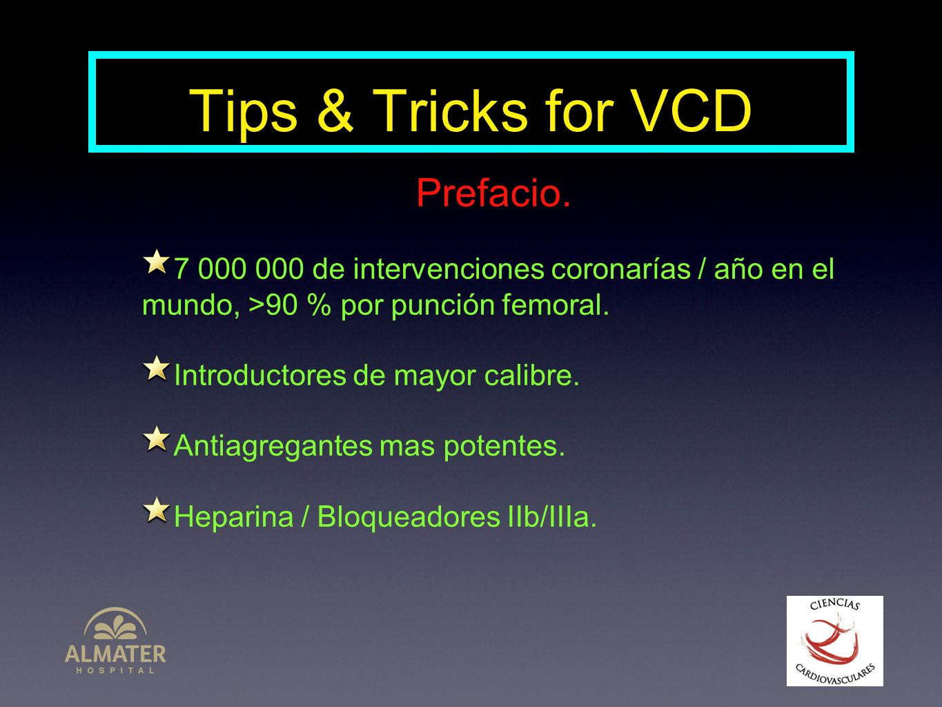 Tips & Tricks for VCD Prefacio.