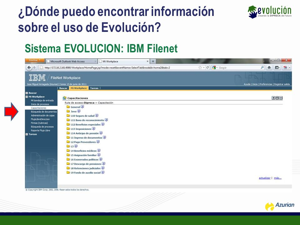 ¿Dónde puedo encontrar información sobre el uso de Evolución