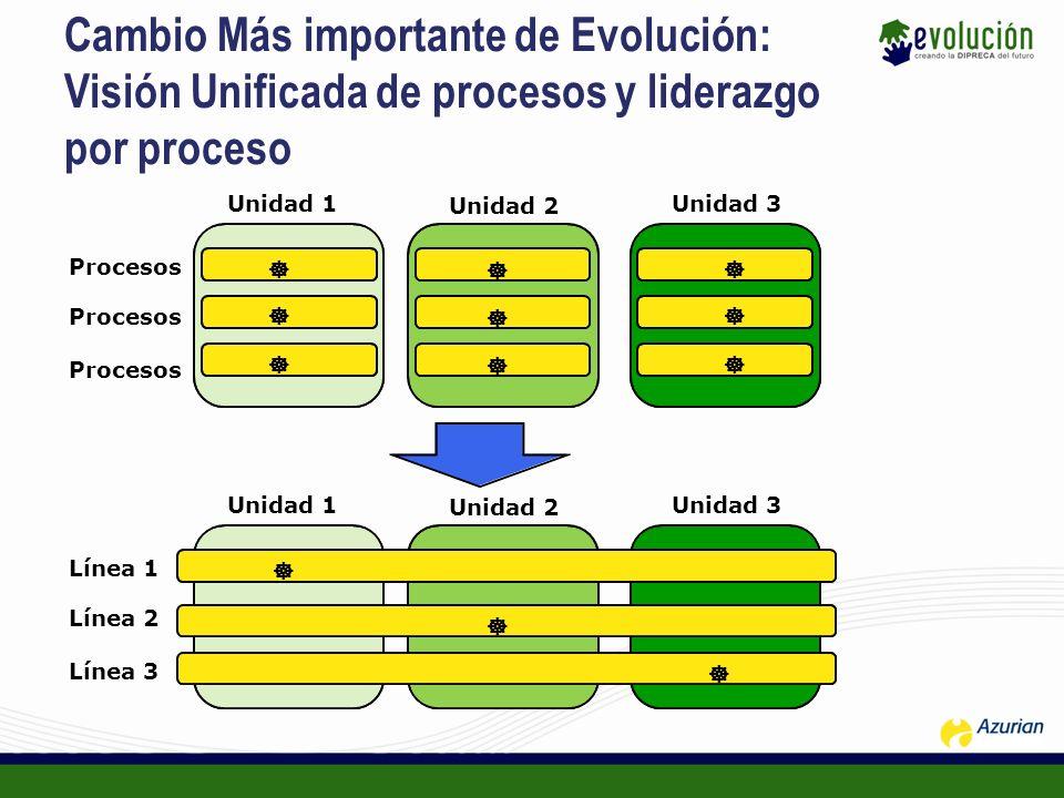 Cambio Más importante de Evolución: Visión Unificada de procesos y liderazgo por proceso