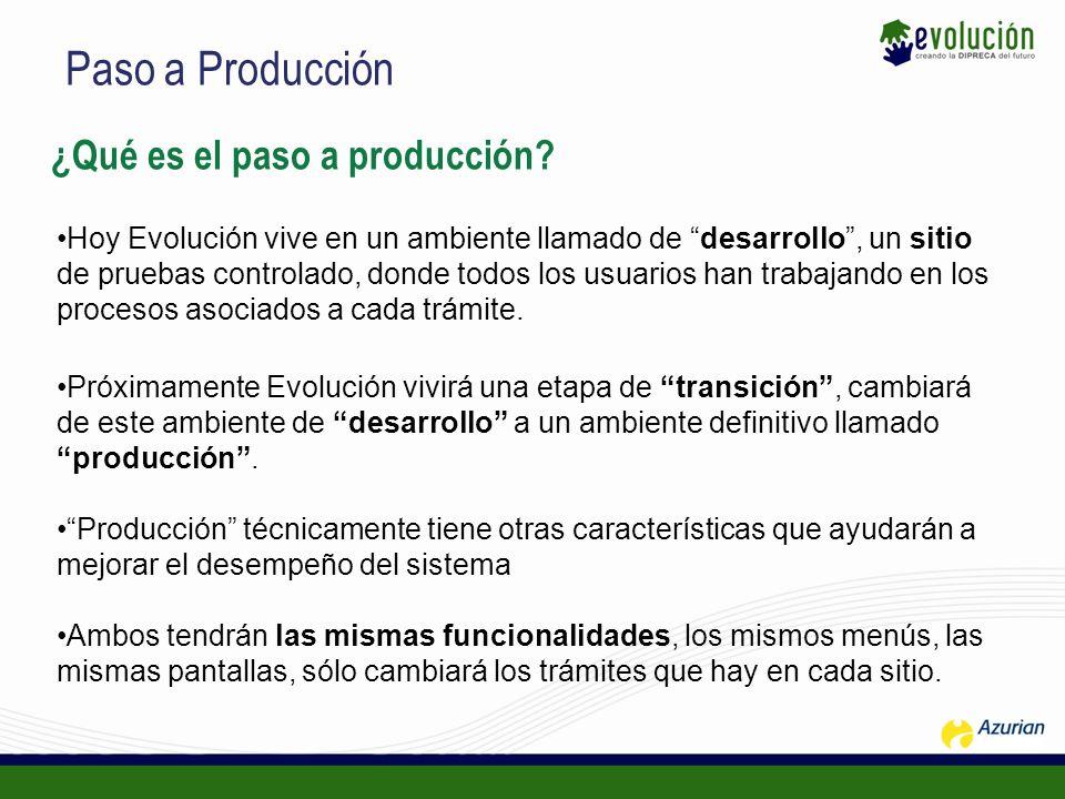 Paso a Producción ¿Qué es el paso a producción