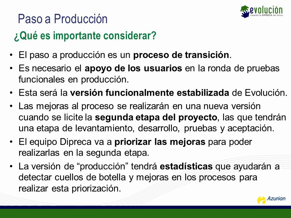 Paso a Producción ¿Qué es importante considerar