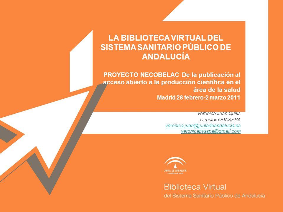 LA BIBLIOTECA VIRTUAL DEL SISTEMA SANITARIO PÚBLICO DE ANDALUCÍA