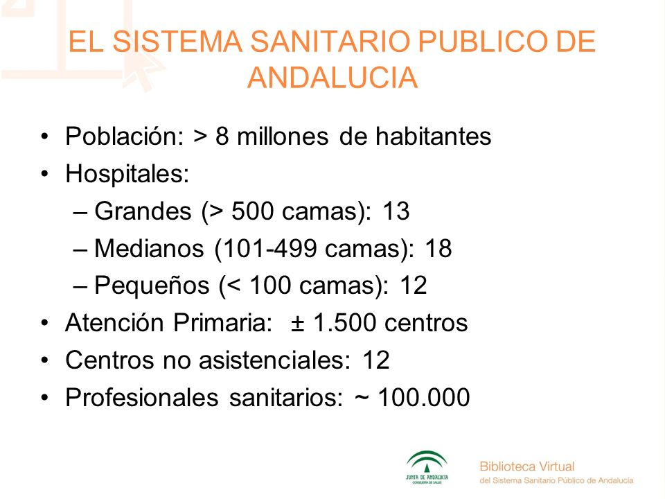 EL SISTEMA SANITARIO PUBLICO DE ANDALUCIA