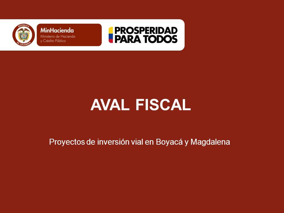 Proyectos de inversión vial en Boyacá y Magdalena