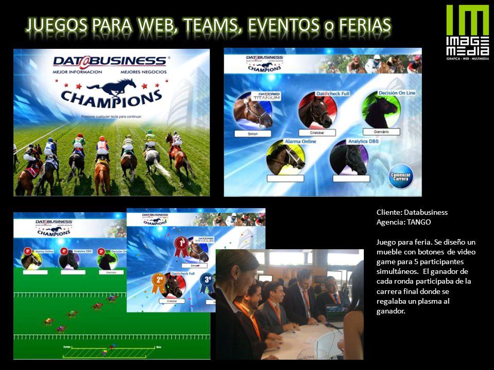 JUEGOS PARA WEB, TEAMS, EVENTOS o FERIAS
