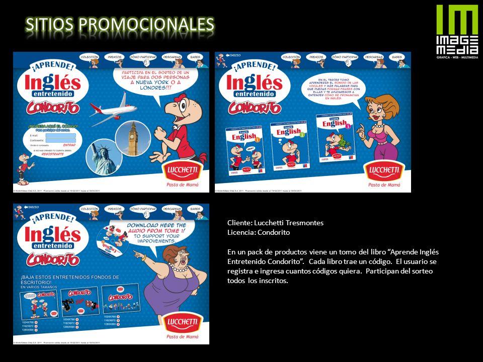 SITIOS PROMOCIONALES Cliente: Lucchetti Tresmontes Licencia: Condorito