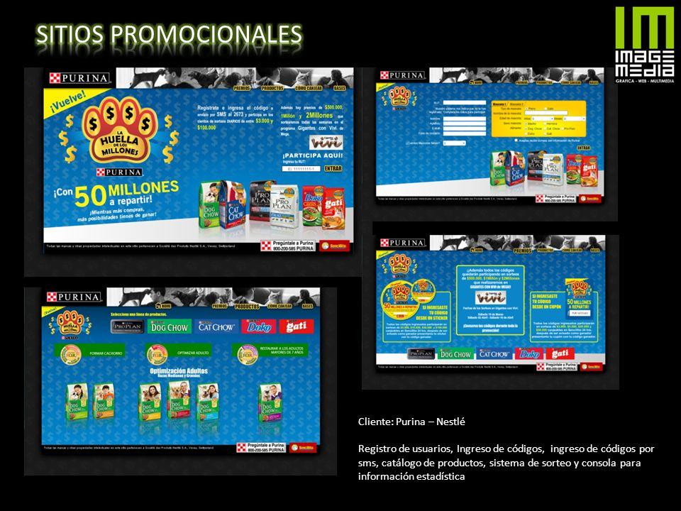 SITIOS PROMOCIONALES Cliente: Purina – Nestlé