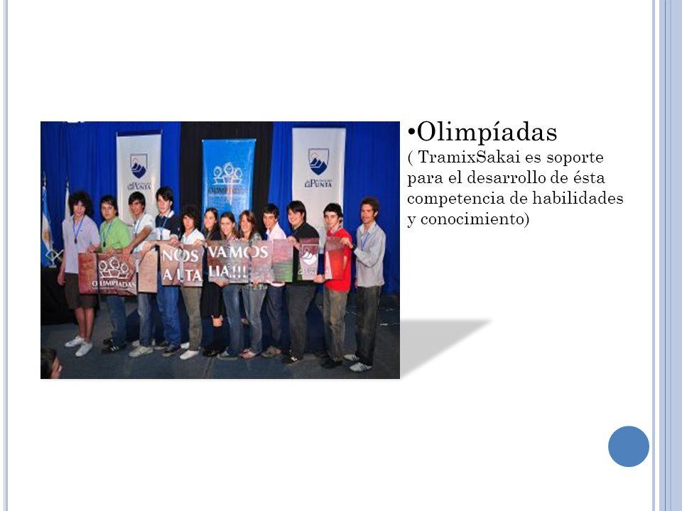 Olimpíadas ( TramixSakai es soporte para el desarrollo de ésta