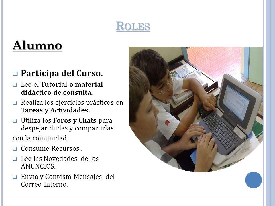 Alumno Roles Participa del Curso.