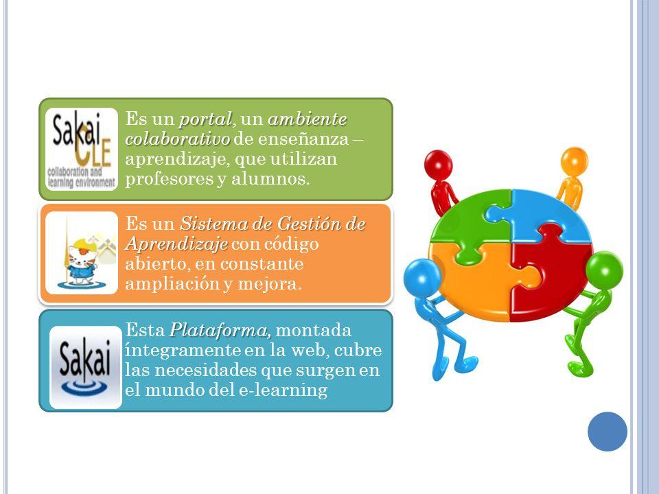 Es un portal, un ambiente colaborativo de enseñanza – aprendizaje, que utilizan profesores y alumnos.