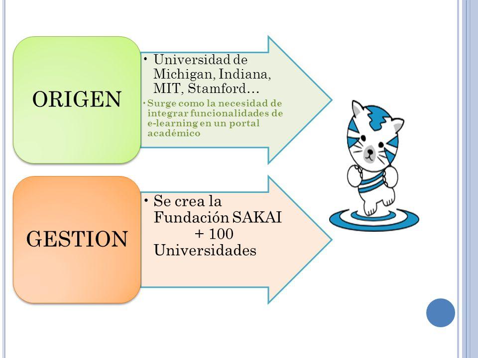 ORIGEN GESTION Se crea la Fundación SAKAI + 100 Universidades