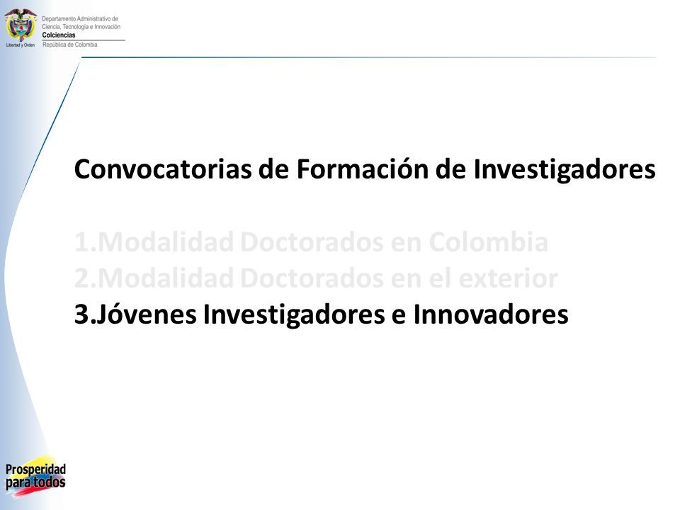 Convocatorias de Formación de Investigadores