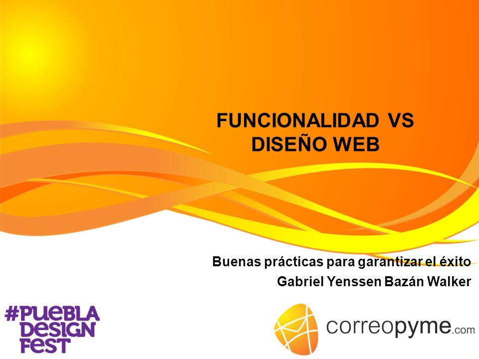 FUNCIONALIDAD VS DISEÑO WEB