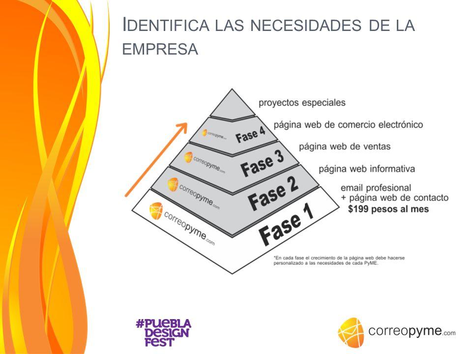 Identifica las necesidades de la empresa