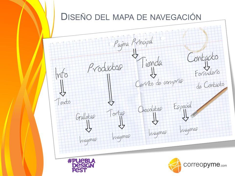 Diseño del mapa de navegación