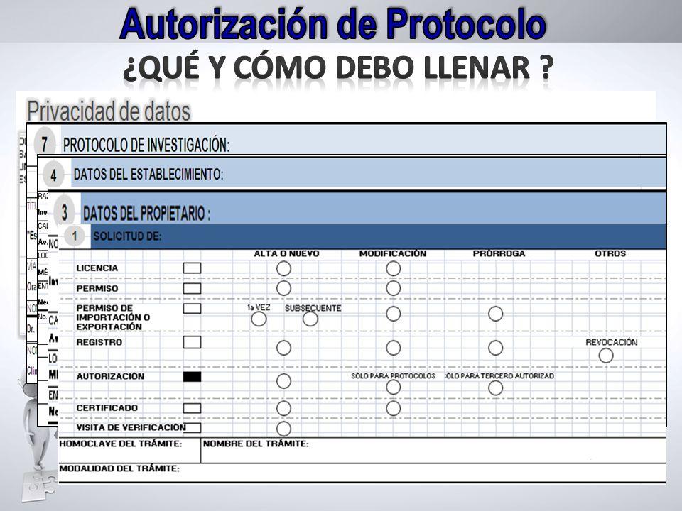 Autorización de Protocolo
