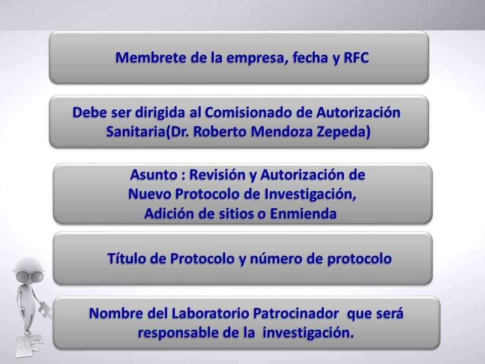 Membrete de la empresa, fecha y RFC