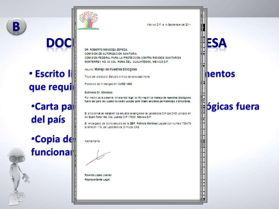 DOCUMENTOS DE LA EMPRESA