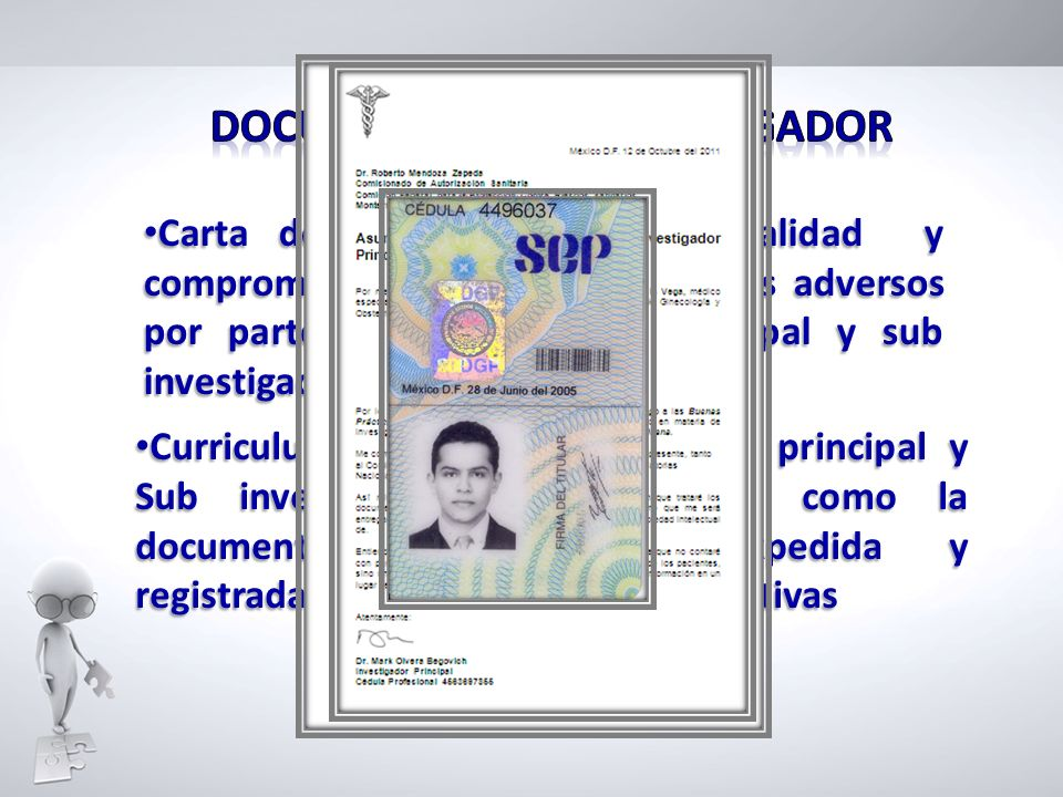 DOCUMENTOS DEL INVESTIGADOR