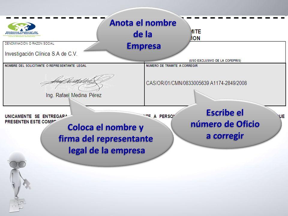 firma del representante
