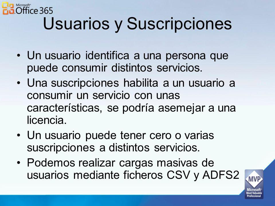 Usuarios y Suscripciones