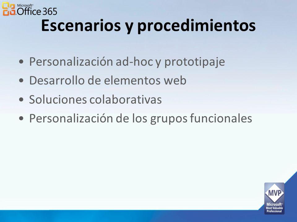 Escenarios y procedimientos