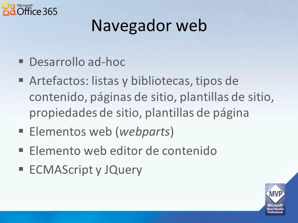 Navegador web Desarrollo ad-hoc
