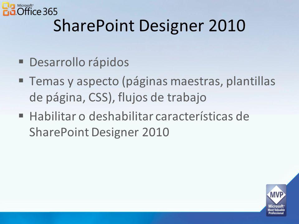 SharePoint Designer 2010 Desarrollo rápidos