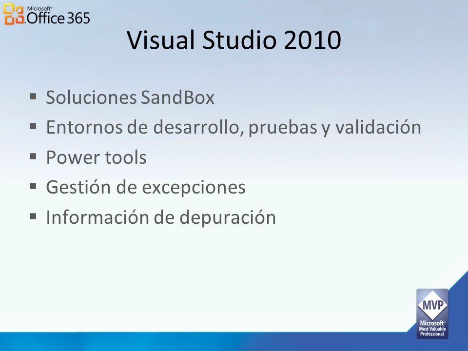 Visual Studio 2010 Soluciones SandBox