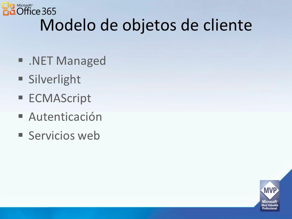 Modelo de objetos de cliente
