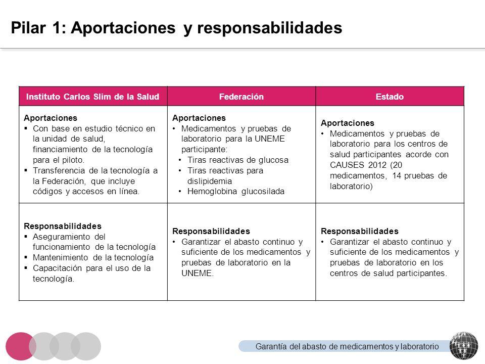 Pilar 1: Aportaciones y responsabilidades