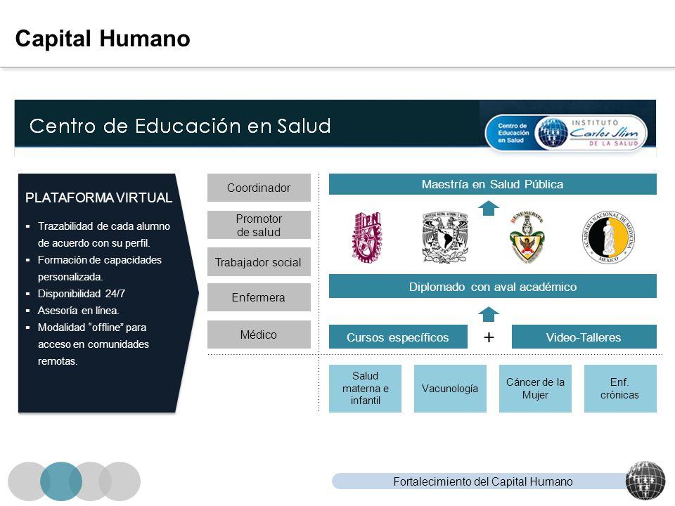 Capital Humano + PLATAFORMA VIRTUAL Maestría en Salud Pública