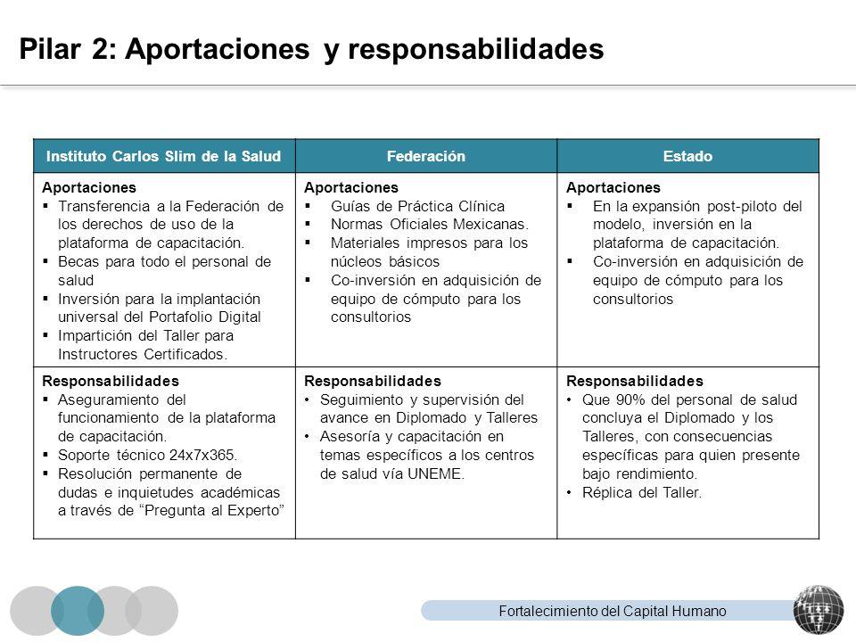 Pilar 2: Aportaciones y responsabilidades