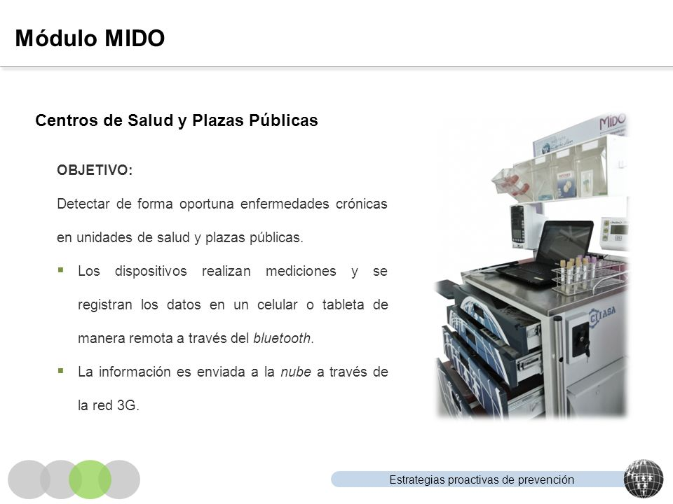 Módulo MIDO Centros de Salud y Plazas Públicas OBJETIVO: