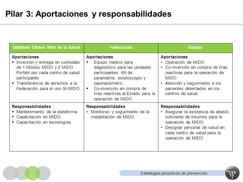 Pilar 3: Aportaciones y responsabilidades