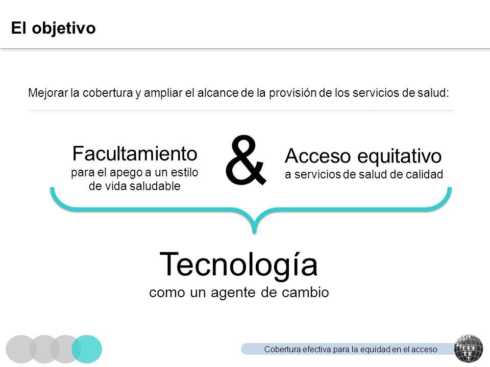& Tecnología Facultamiento Acceso equitativo El objetivo