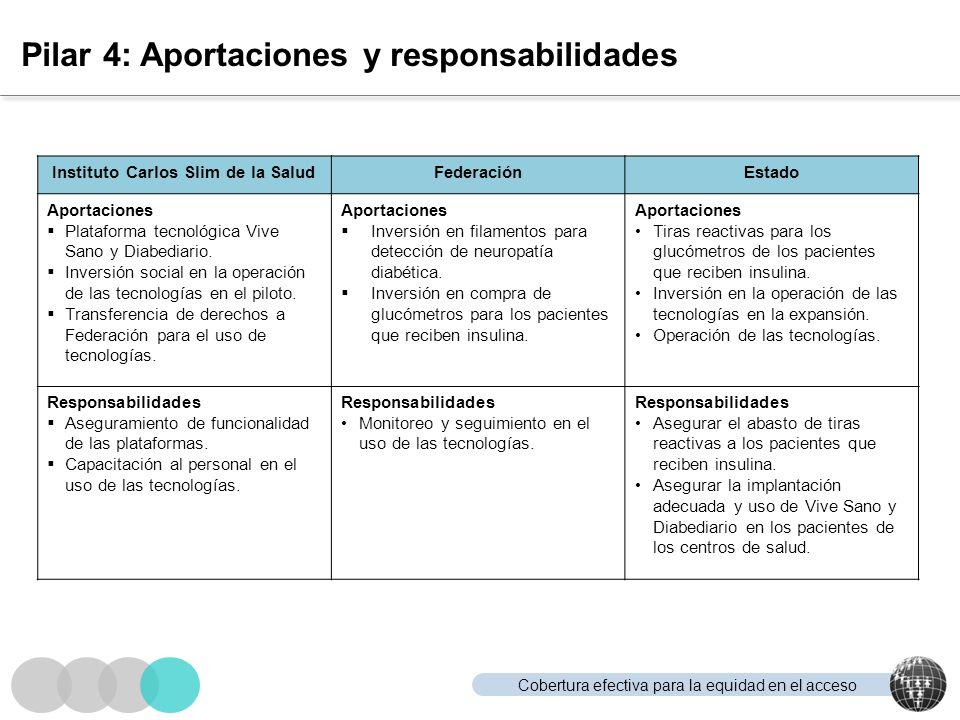 Pilar 4: Aportaciones y responsabilidades