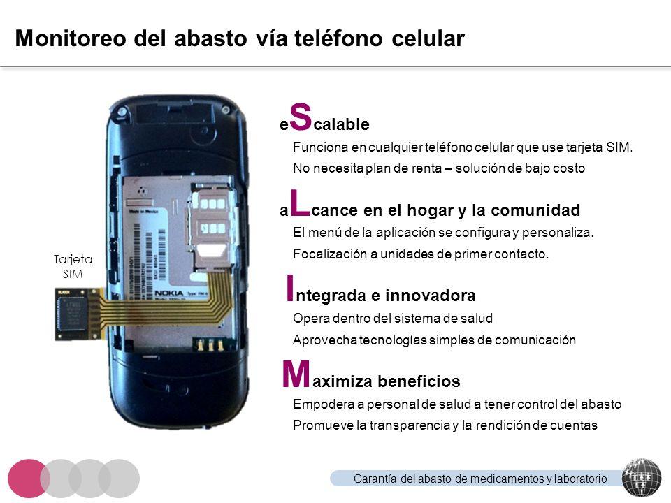 Monitoreo del abasto vía teléfono celular