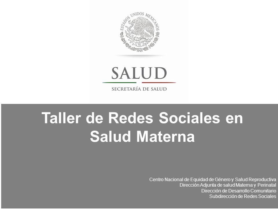 Taller de Redes Sociales en Salud Materna
