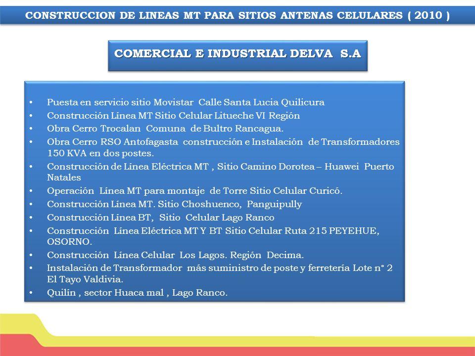 COMERCIAL E INDUSTRIAL DELVA S.A