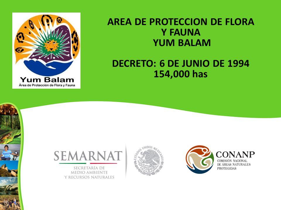 AREA DE PROTECCION DE FLORA Y FAUNA