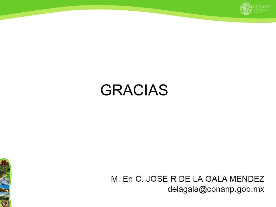 GRACIAS M. En C. JOSE R DE LA GALA MENDEZ delagala@conanp.gob.mx