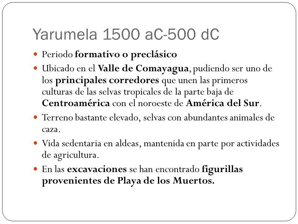 Yarumela 1500 aC-500 dC Periodo formativo o preclásico