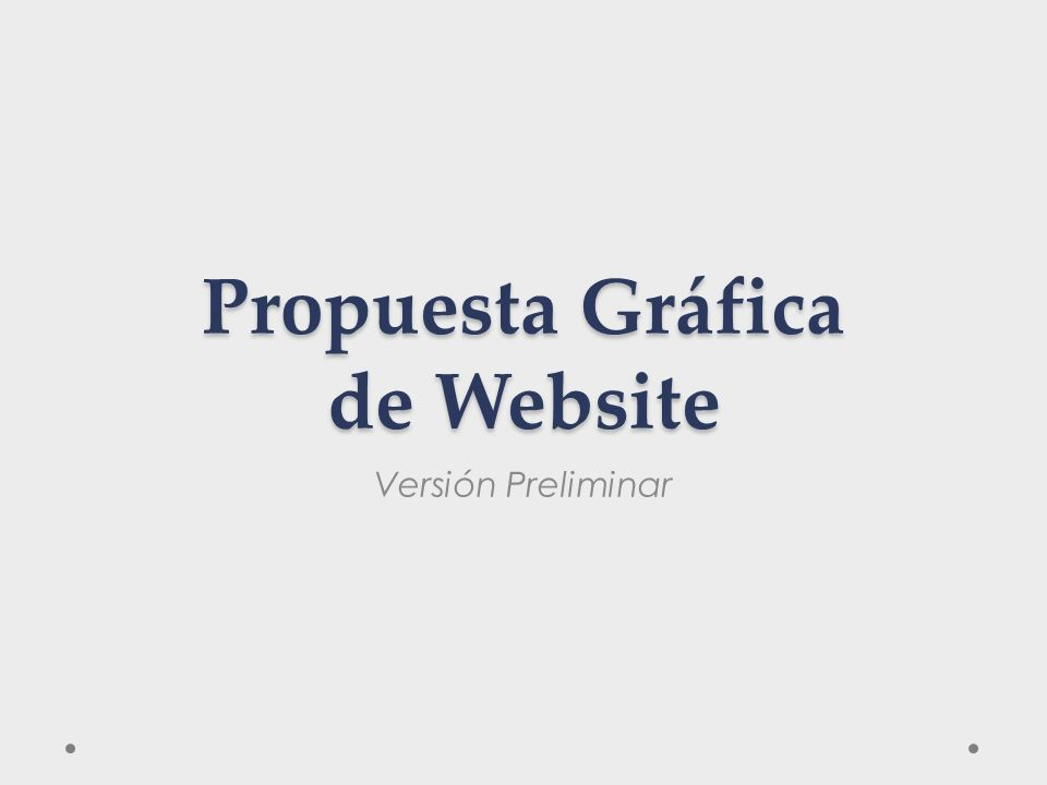 Propuesta Gráfica de Website