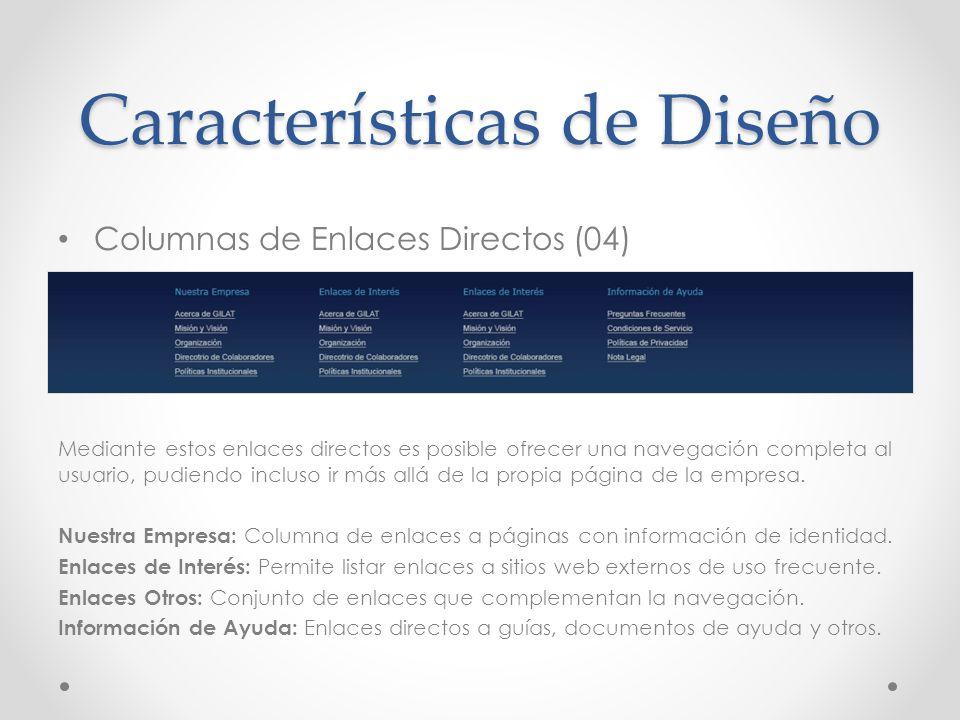 Características de Diseño