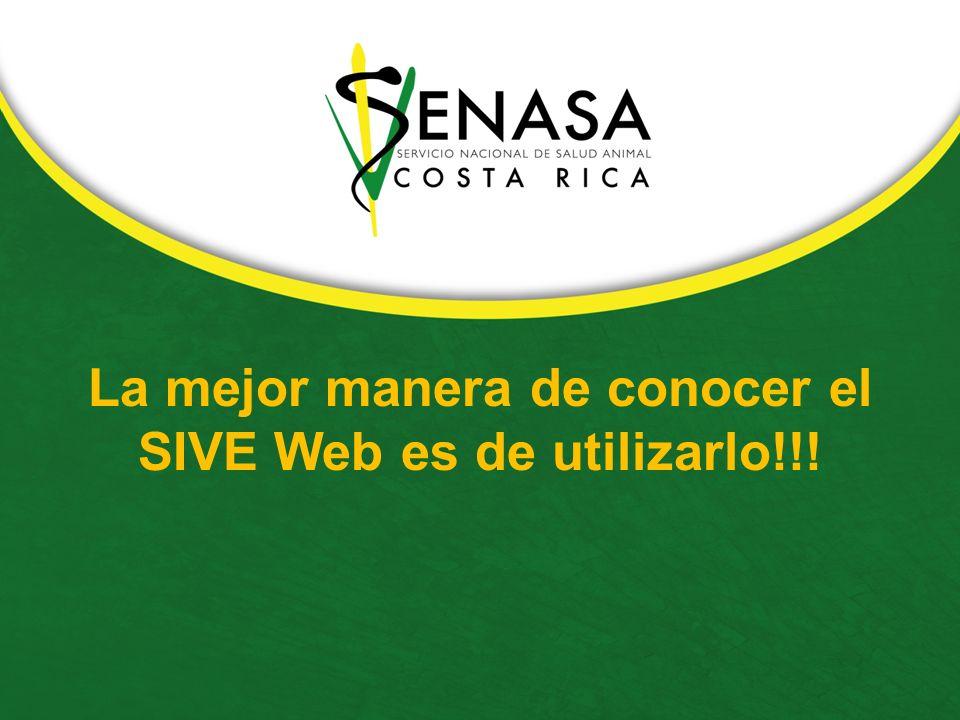 La mejor manera de conocer el SIVE Web es de utilizarlo!!!